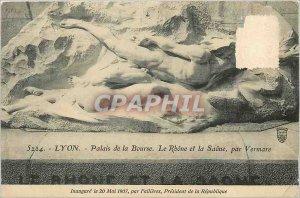 Old Postcard Lyon Palais de la Bourse The Rhone and Saone by Vermare