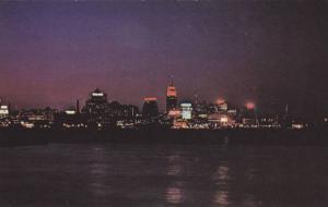 An impressive night view of the Skyline of Toronto, Toronto Islands,  Toronto...