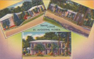 Florida Saint Augustine Trave Lodge 1952