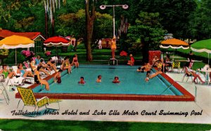 Florida Tallahassee Mootor Hotel and Lake Ella Motor Court Swimming Pool