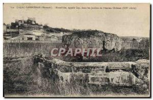 Postcard Old Megalith Dolmen Langoiran Monolith called Cep in the gardens of ...