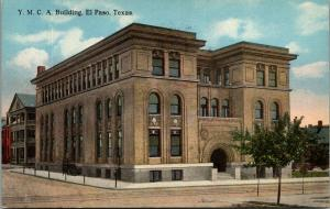 El Paso Texas~YMCA Building~Oregon & Missouri Streets Corner~c1910 Postcard