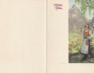 Norwegian American Lines, 1968; S.S. STAVANGERFJORD Lunch Menu # 2
