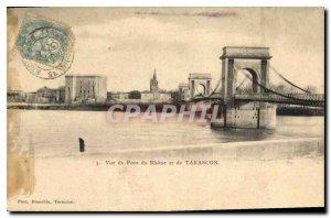 Old Postcard Tarascon View of Pont Du Rhone
