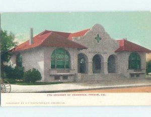 Pre-1907 BUILDING SCENE Fresno California CA AE9080