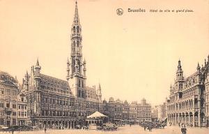 Bruxelles Belgium, Belgique, Belgie, Belgien Hotel de Ville et Grand Place Br...
