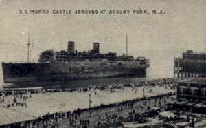 S.S. Morro Castle Aground Asbury Park NJ 1934 Missing Stamp