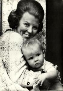 Dutch Princess Beatrix with Prince Willem-Alexander (1968)