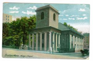 South Horicon to Gloversville, New York used 1907 PC, King's Chapel, Boston