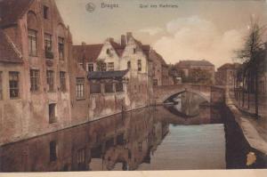 Quai Des Marbriers, Small Bridge, Bruges (West Flanders), Belgium, 1900-1910s
