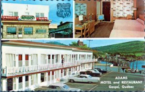 Gaspe QUE Canada - Adams Motel and Restaurant, 1960s