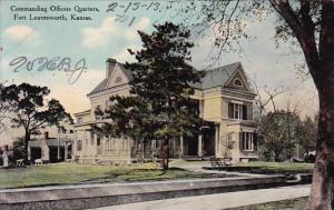 Kansas Fort Leavenworth Commanding Officers Quarters