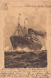 S.S. Patricia, Hamburg-Amerika Line  Ship's postcard