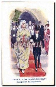 Old Postcard Fantasy Illustrator Under new management Marriage