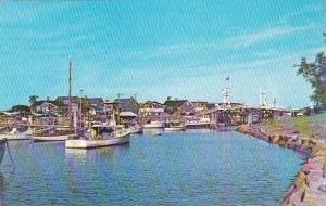 Maine Ogunquit Boats In the Harbor Perkins Cove