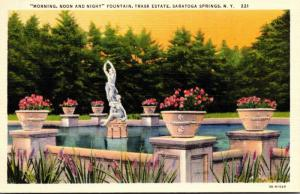 New York Saratoga Springs Trask Estate Morning Noon and Night Fou...
