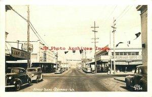 WA, Raymond, Washington, RPPC, Street Scene, Business Area, Ellis 3734