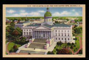 South Carolina colour PC Capitol from Hampton Hotel, Columbia, unused