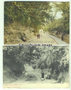 tp9794 - Sussex - Two Cards, changes in Chantry Lane, Bexhill-on-Sea - postcard