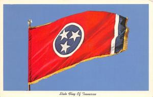 Tennessee~Tennessee State Flag~1960 Postcard