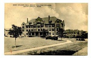 MA - South Hadley. Mt Holyoke College, Mary Wilder Hall