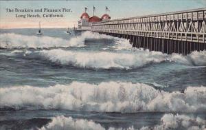 California Long Beach The Breakers And Pleasure Pier 1919