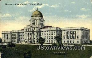 Montana State Capitol Helena MT 1916 Missing Stamp