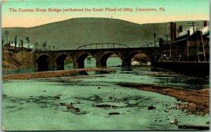 Johnstown, Pennsylvania Postcard The Famous Stone Bridge c1910s Unused