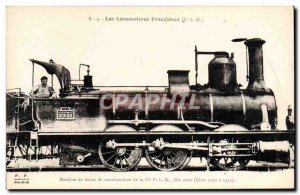 Postcard Old train locomotive freight trains Machine Co. PLM