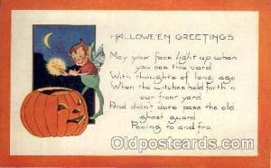 Whitney Halloween Postcard Postcards  Whitney