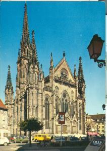 Mulhouse, Le Temple Saint-Etienne, 1980 used Postcard