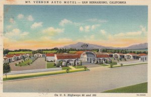 Route '66'; Mt Vernon Auto Court , SAN BERNARDINO , California , 30-40s