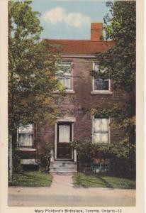 Mary Pickford's Birthplace, Toronto, Ontario, Canada, 1930-40s