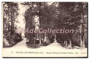 Old Postcard Veules Les Roses D'Yvetot Roads And Saint Valery