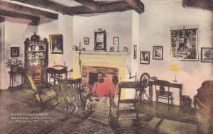 West Virginia Lewisburg Fireplace General Lewis Hotel Handcolored Albertype