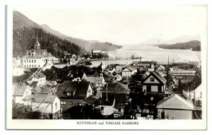 RPPC Ketchikan, Alaska and Tongass Narrows Real Photo Postcard *6O3