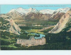 Divided-Back BOW VALLEY & HOTEL Banff Alberta AB o0857