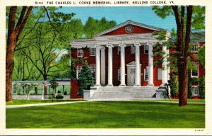 Virginia Roanoke Charles L Cooke Memorial Library Hollins College