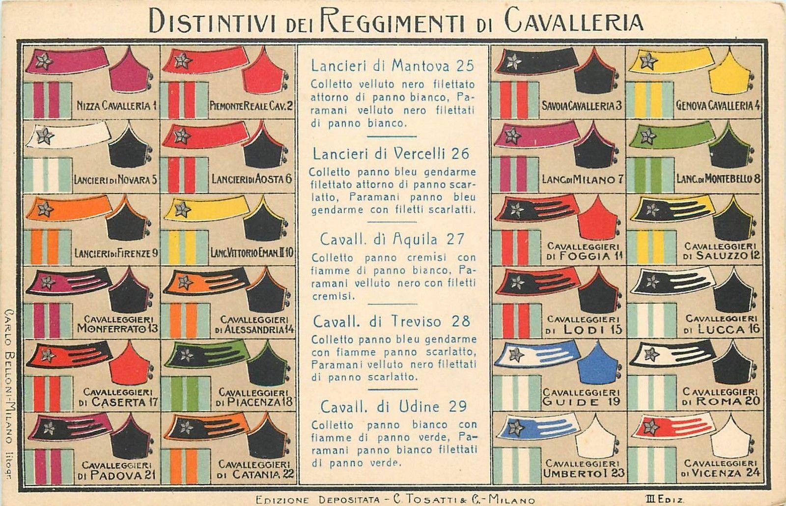 Italian Cavalry Regiment Military Decorations Distintivi Reggimenti ... 71e1dd032b7f