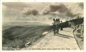 Tennessee Clingmans Great Smokey Cline Studios Dome RPPC Photo Postcard 21-9321