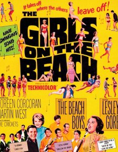Girls On The Beach Boys Lesley Gore Rock'n'Roll Music Film Poster Postcard