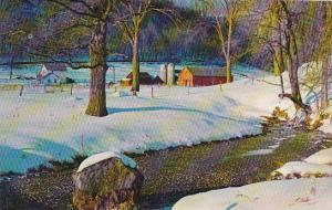 Nebraska A Spring Rises From Snowbound Farmland