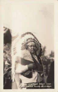 RP: PENDLETON , Oregon , 1920-30s ; Umatilla Indian Chief