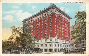 Dayton Ohio~Hotel Miami~Vintage Cars Parked by Hotel & Shops~Man @ Window~1924