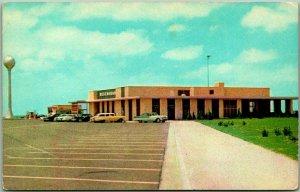 Vintage 1950s Kansas Postcard Service Area, KANSAS TURNPIKE Chrome Unused