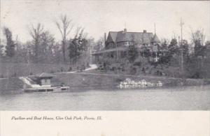 Illinois Peoria Pavilion and Boat House Glen Oak Park