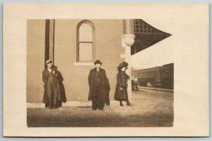 Hutchinson KS Santa Fe Depot~Do We Look Cute? We Look Pretty Bummy~RPPC 1908 PC