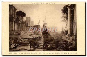 Old Postcard Musee Du Louvre Cladde Ulysses Resets Chryseis To Her Father