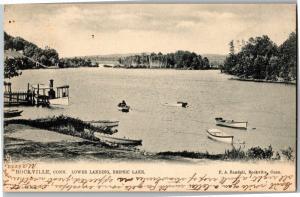 Tucks 006, Lower Landing, Snipsic Lake Rockville Connecticut c1905 Postcard N12
