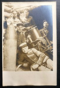 Mint Germany Real Picture Postcard RPPC Soldiers With Canons WW1
